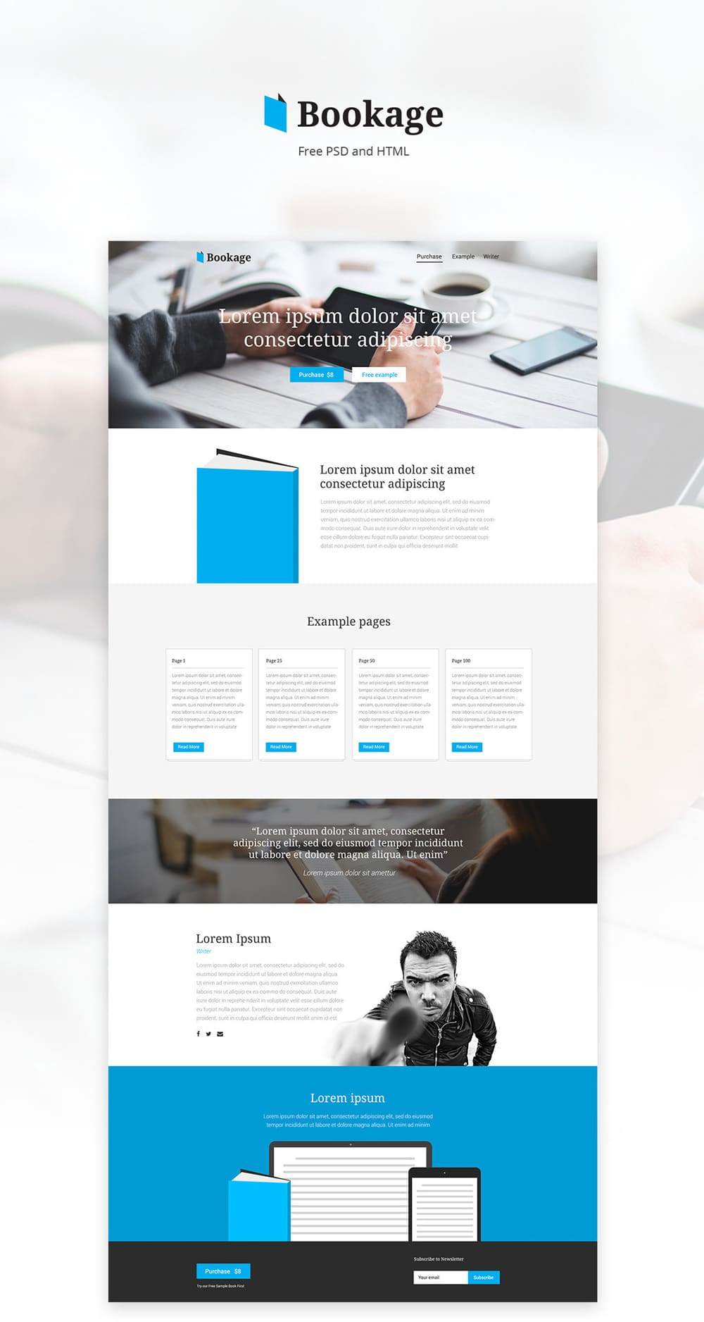 Bookage Free Web Template