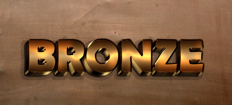 Bronze Text Style PSD