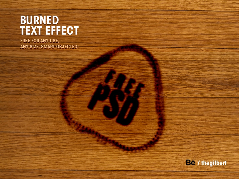 Burned Text Effect PSD