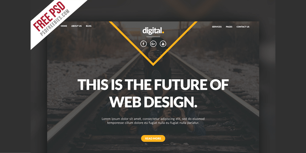 Businesses and Agencies Web Template PSD