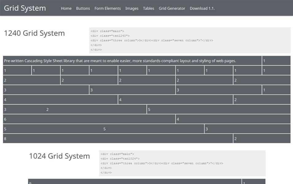 CSS Grid Framework