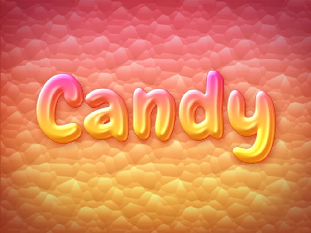 Candy Text Style PSD