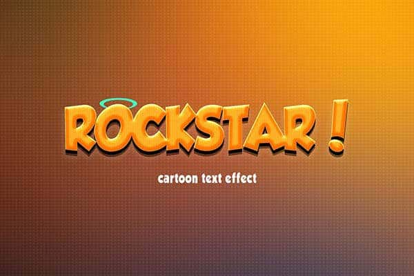 Cartoon Text Effect PSD