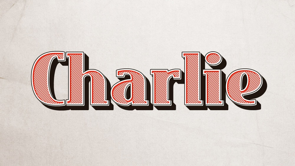 Charlie Text Effect PSD