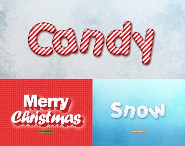 Christmas Text Styles Free PSD