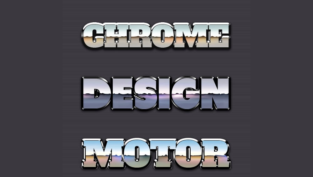 Chrome Reflection Text Styles PSD