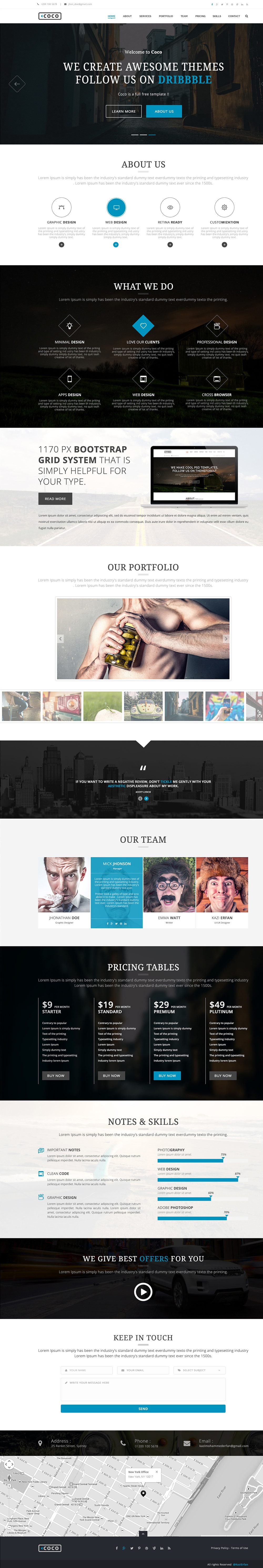 Coco - Business Theme Free PSD