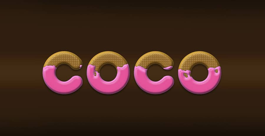 Coco Text Effect PSD