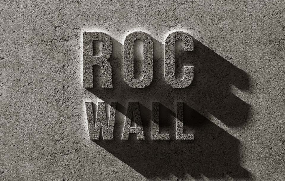 Concrete Rock Text Effect PSD