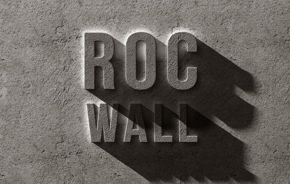 Concrete Rock Text Effect PSD