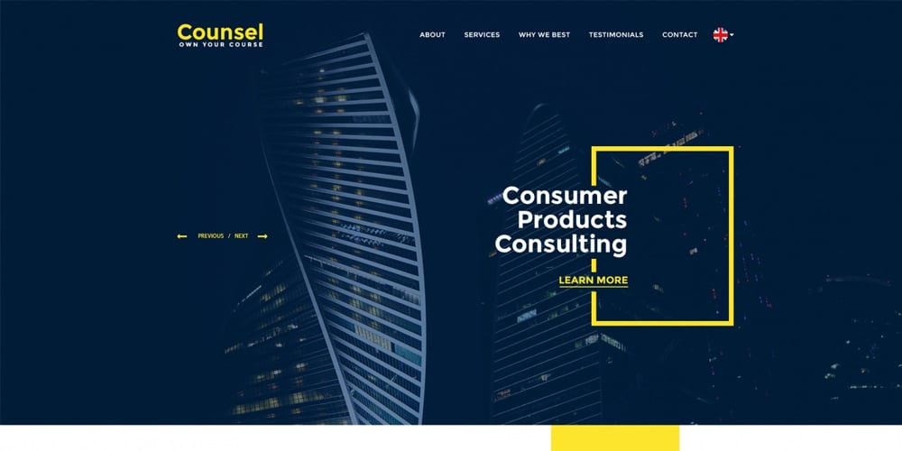 Counsel Web Template PSD