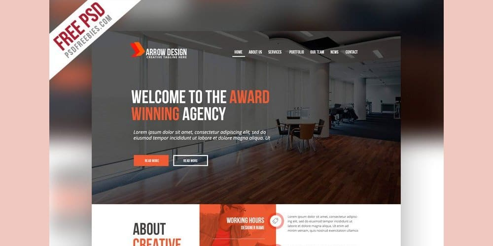 Creative Agency Web Template PSD