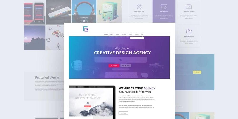 Creative Design Agency Web Template PSD