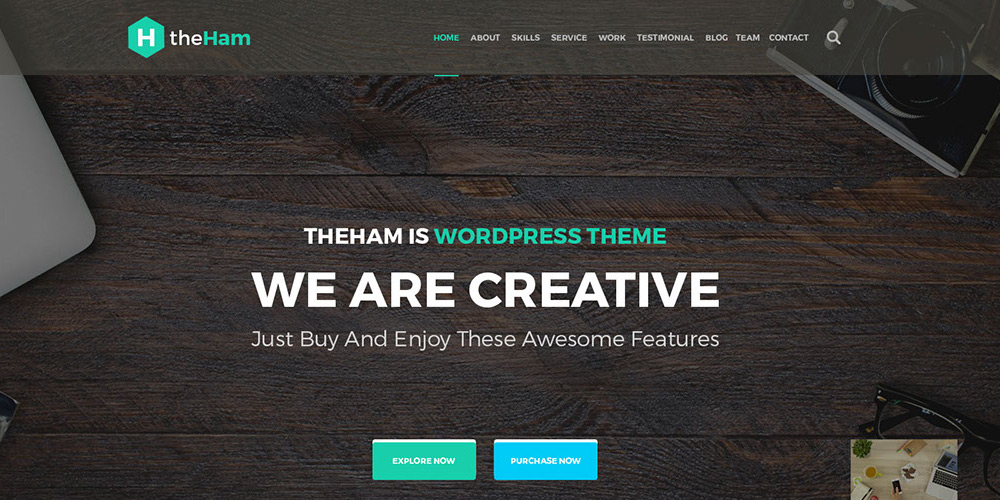 Creative Landing Page Web Template PSD
