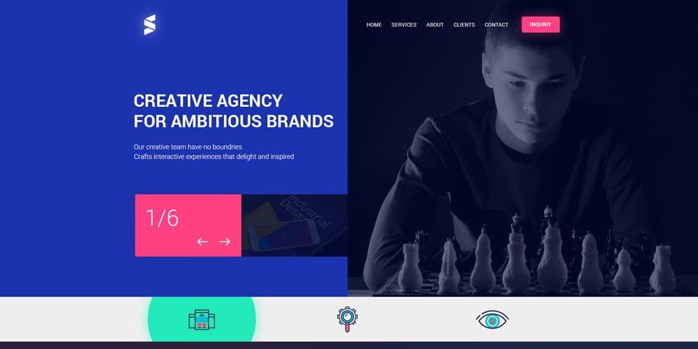 Creative Website Design PSD