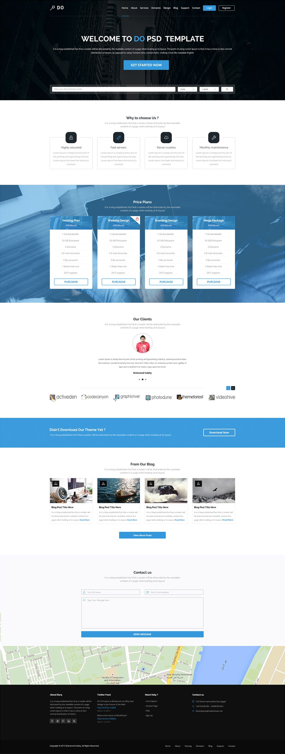 Free single page website templates psd css author do is an one page free template with clean and modern design fully layered easily editable psd files that are well organized in layers groups pronofoot35fo Choice Image