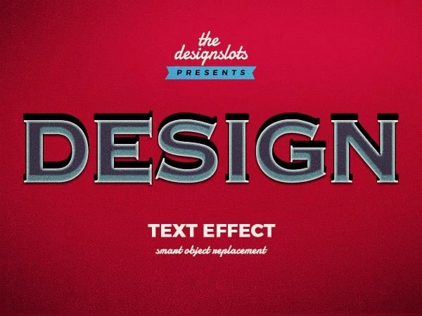 Design Vintage Text Effect PSD