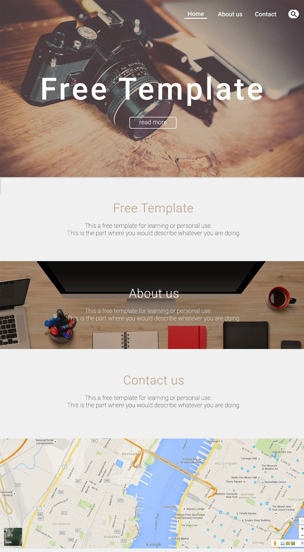 Designer/Personal Web Template PSD