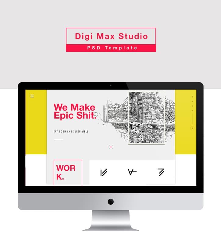 Digi Max Studio Landing Page PSD