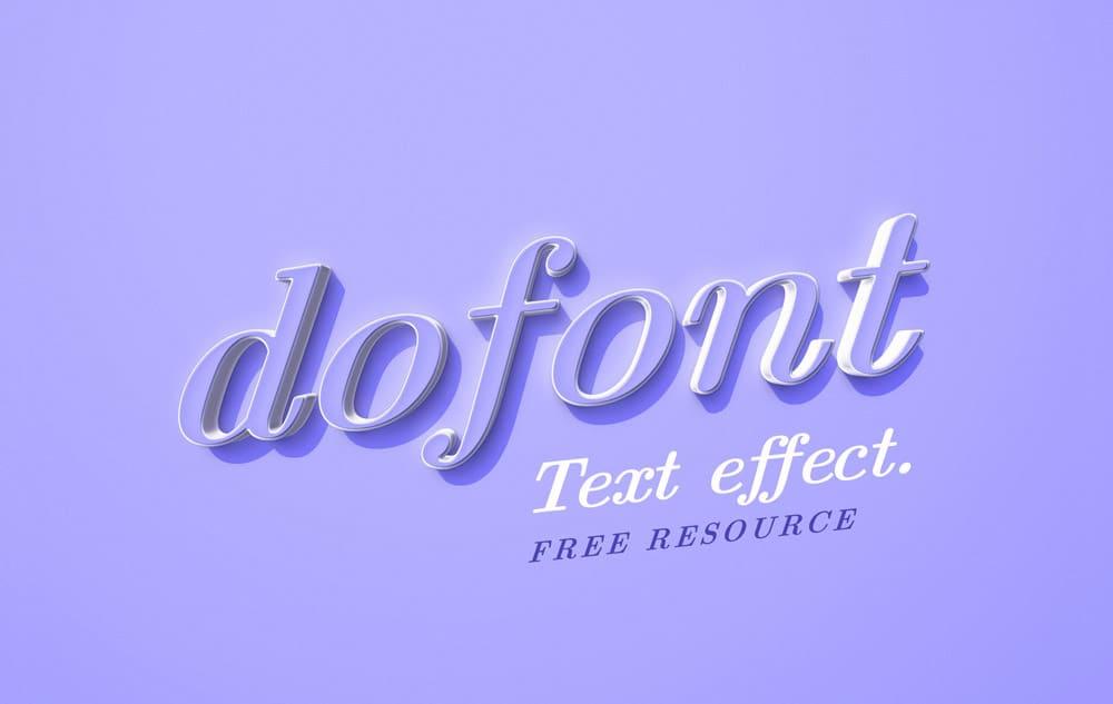 Dofont Text Effect PSD