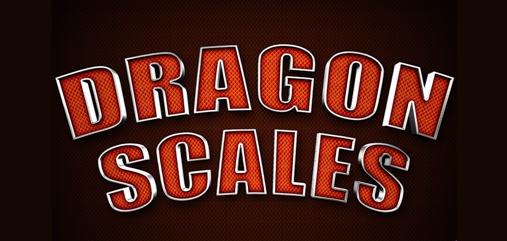 Dragon Scales Text Style PSD