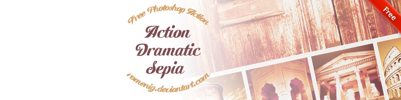 Dramatic Sepia Free Photoshop Actions