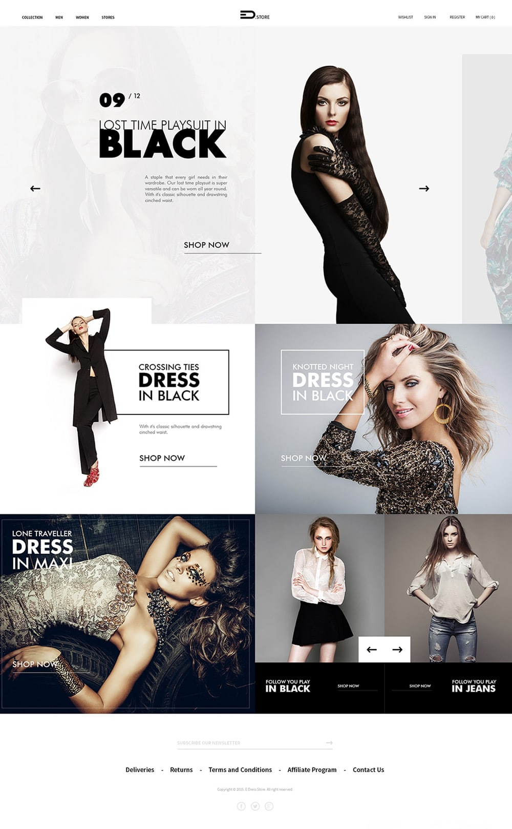 Free ecommerce web templates psd css author edstore fashion store web template psd pronofoot35fo Choice Image