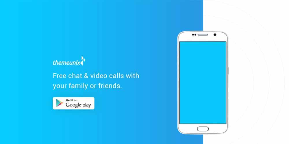 EXOS Free App Landing Web Template PSD