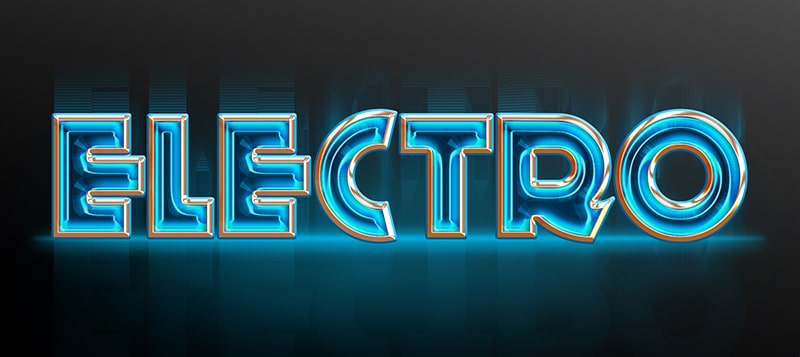 Electro Text Style PSD