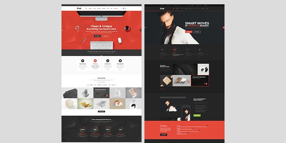 Exe Multipurpose WebTemplate PSD