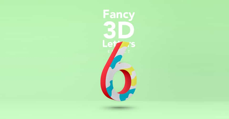 Fancy 3D Letter Text Effect PSD