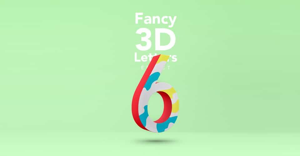 Fancy 3D Letter Text Effect PSD