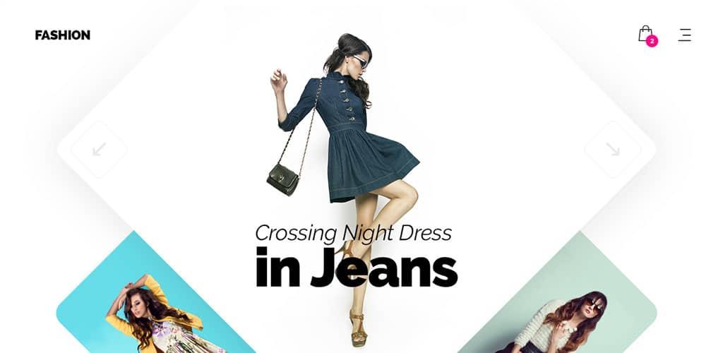 Fashion Store Web Template PSD
