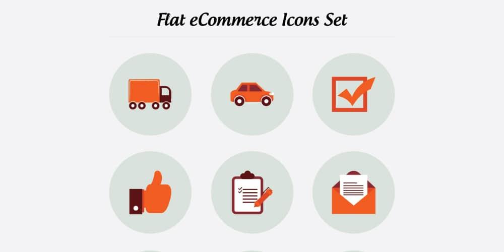 Flat eCommerce Icons