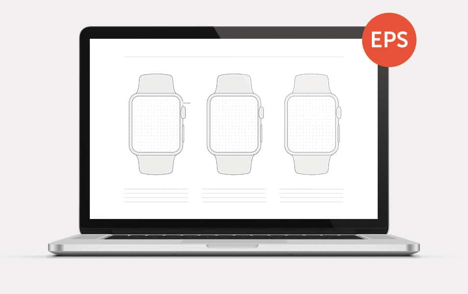 Free Apple Watch Wireframe Template