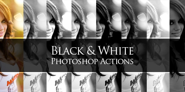 Free Black and White Photoshop Actions