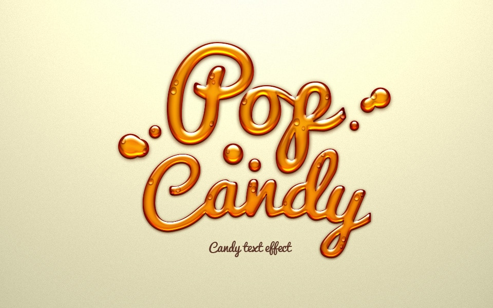 Free Candy Text Effect PSD
