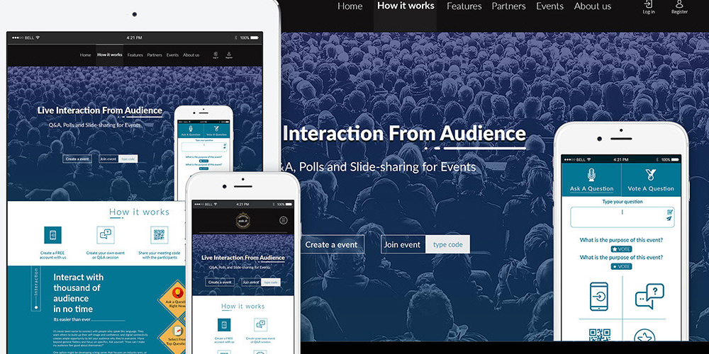 Free Event Management Theme PSD
