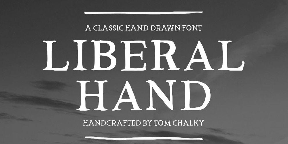 Free Liberal Hand Serif Font