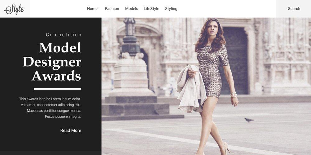 Free One Page Fashion Web Template PSD
