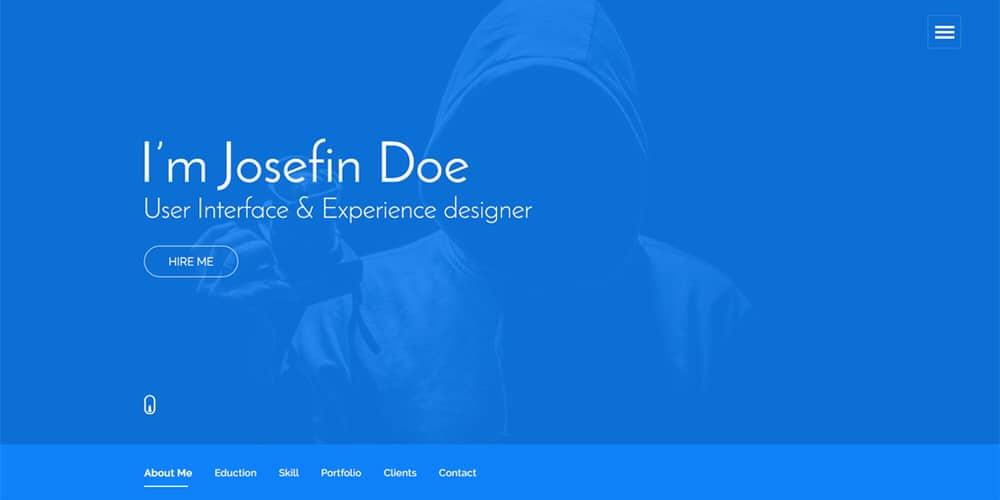 Free One Page Portfolio Web Template PSD