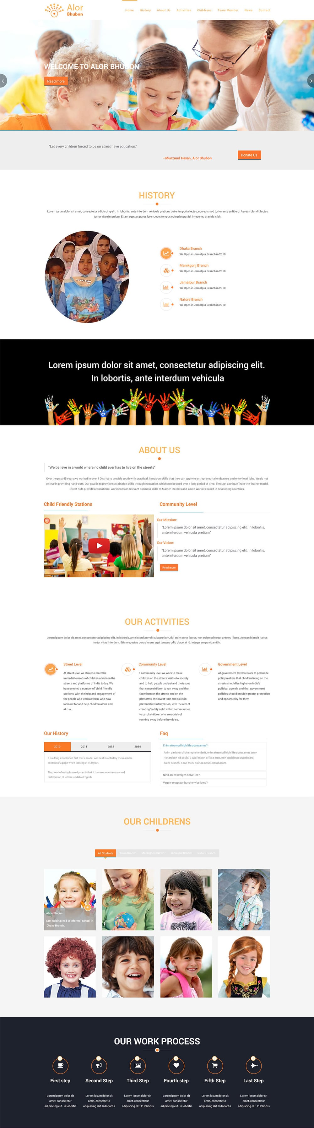 Free One Page Web Template PSD