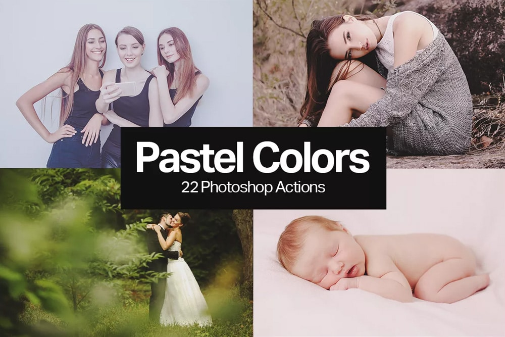 Free Pastel Color Photoshop Actions