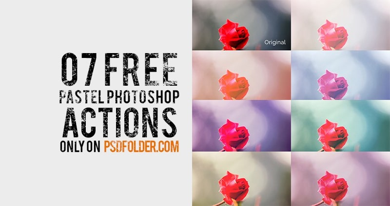 Free Photoshop Soft Pastel Actions