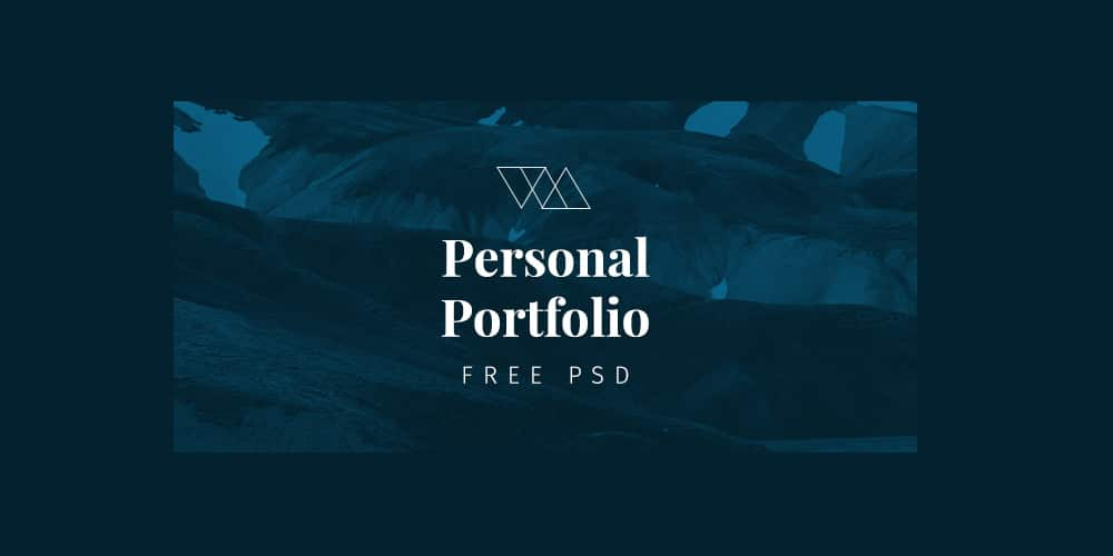 Free Portfolio Web Template PSD