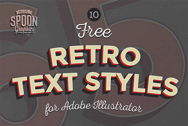 Free Retro Text Effects for Adobe Illustrator