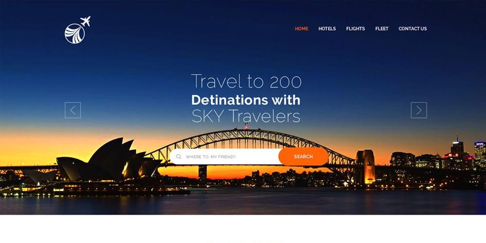 Free Travel Landing Page PSD