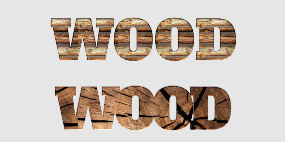 Free Wood Text Styles PSD