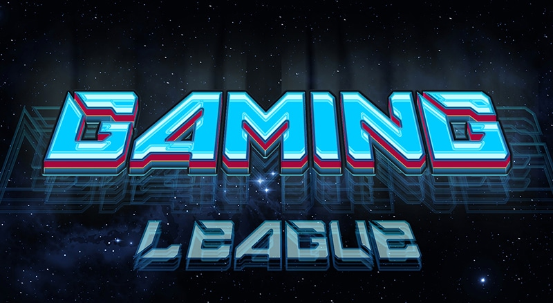 Gaming League Text Style PSD