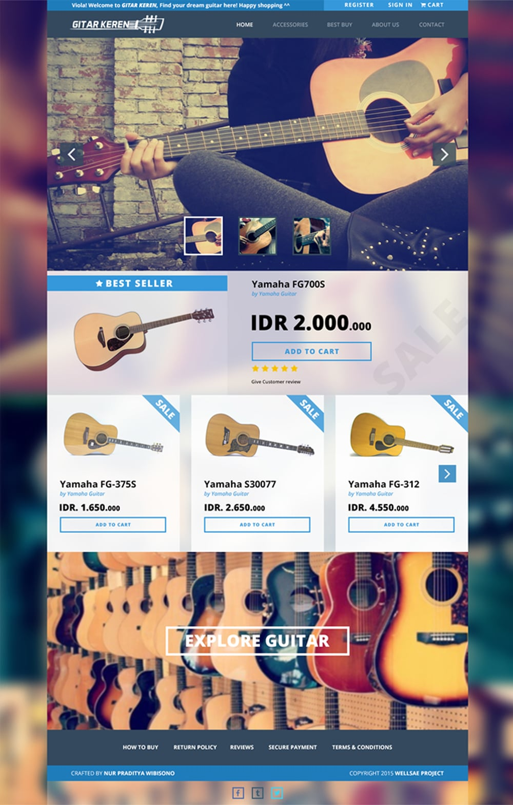 Gitar Keren - Free WebTemplate PSD